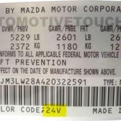 Spray Vopsea Auto Marca VALSPAR DEBEER Preparata La Culoarea Masinii Mazda